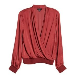 NWT|Anthropologie Current Air Surplice Top